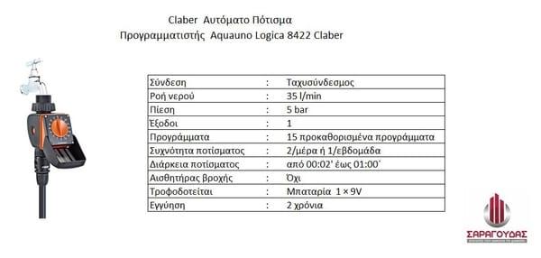 Claber Προγραμματιστές για Αυτοματο Πότισμα