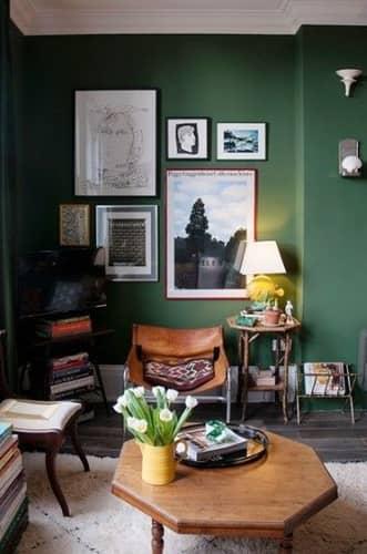 πρασινο λαδι χρωμα τοιχου
