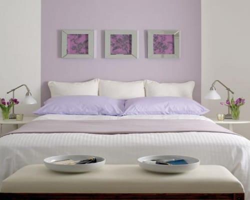 ρομαντικα χρώματα για κρεβατοκάμαρα