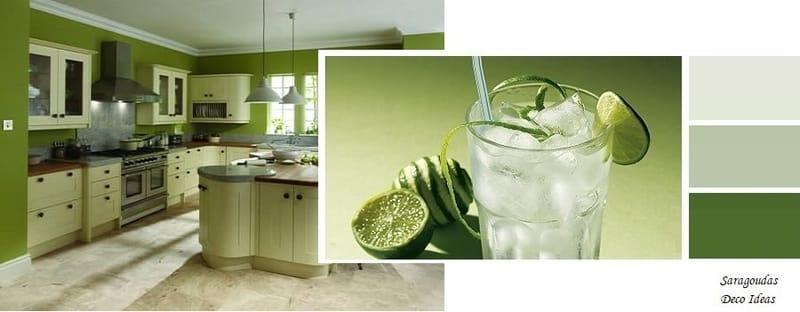 πρασινα χρωματα για κουζινες