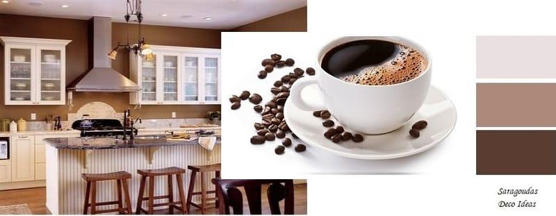 καφε χρωματα για κουζινες