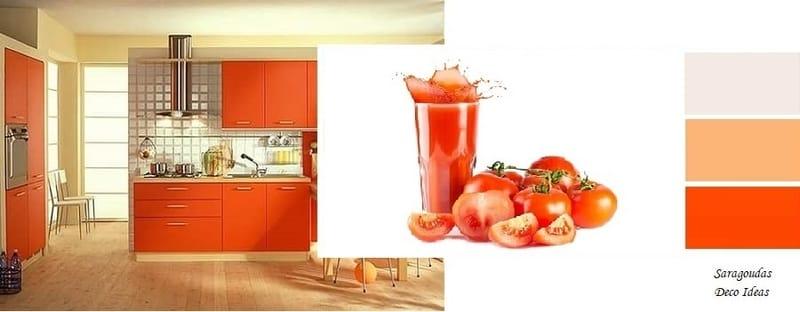 φωτεινα πορτοκαλι χρωματα για κουζινες