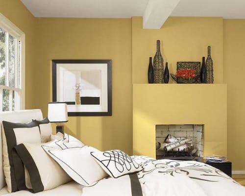 Ζεστά χρώματα για υπνοδωμάτιο