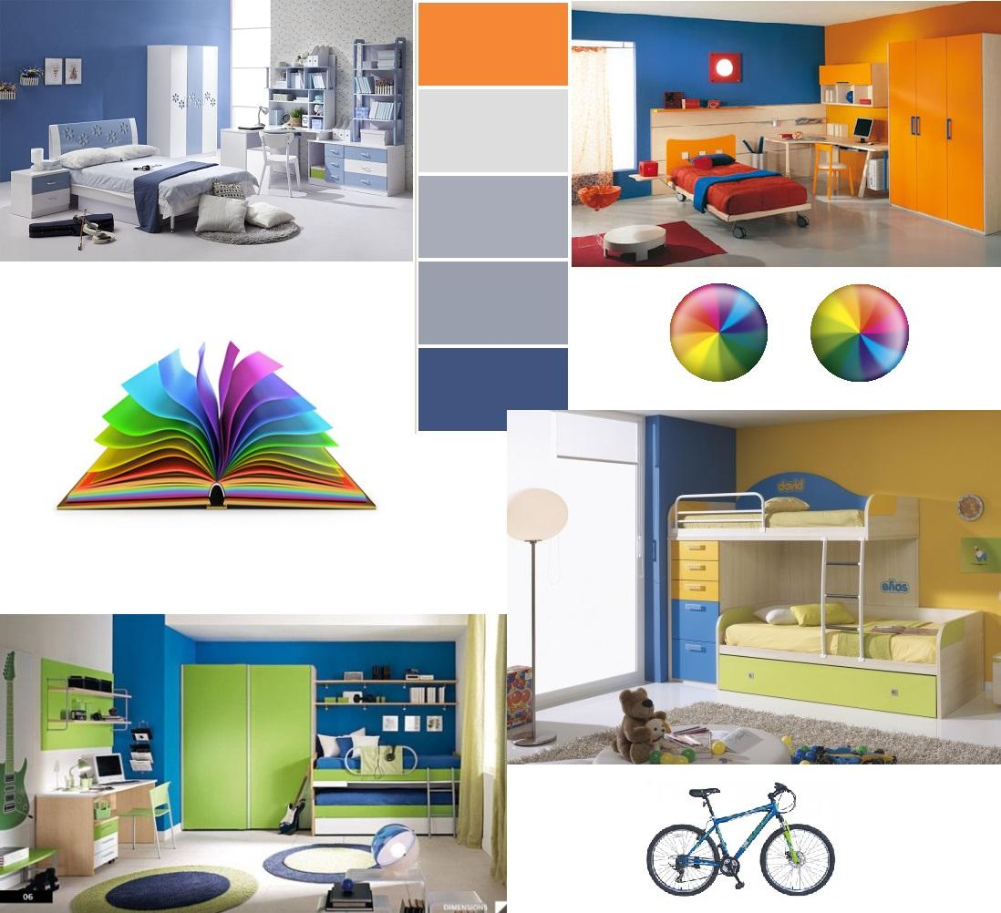 03d32b4874a Πρωτότυποι συνδυασμοί χρωμάτων για παιδικά δωμάτια. Οι αποχρώσεις του μπλε  προτιμούνται κυρίως από αγόρια, οι συνδυασμοί του όμως αρέσουν και στα  κορίτσια.